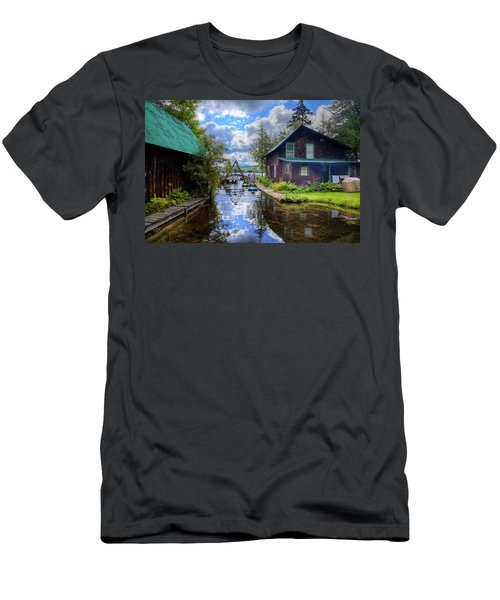 Men's T-Shirt (Athletic Fit) featuring the photograph The Channel At Palmer Point by David Patterson