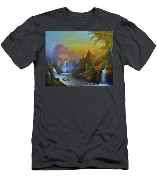 The Citadel Under The Moon Men's T-Shirt (Athletic Fit)