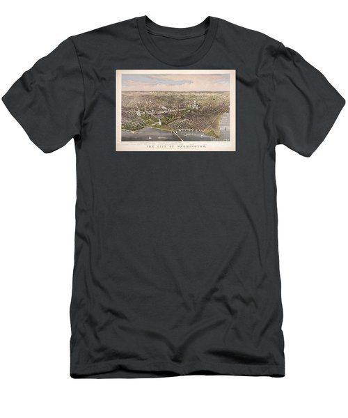 The City Of Washington Men's T-Shirt (Slim Fit) by Charles Richard Parsons