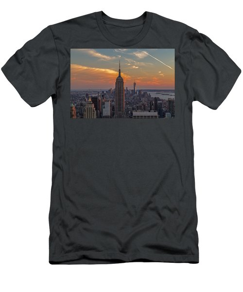 Men's T-Shirt (Slim Fit) featuring the photograph The City That Never Sleeps  by Anthony Fields