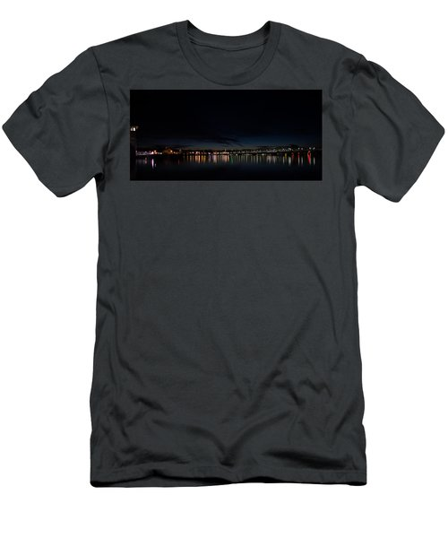 The Colors Of A Nightly Bridge Men's T-Shirt (Athletic Fit)