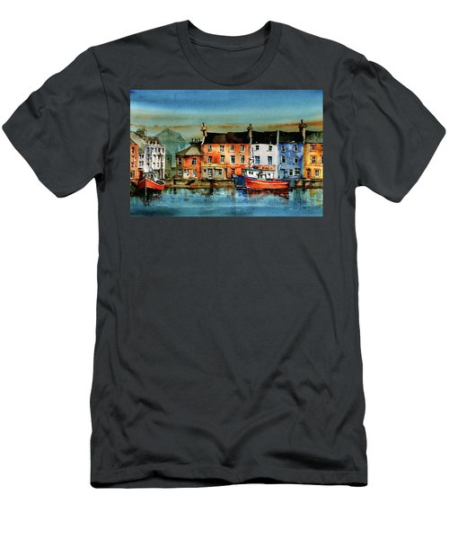 The Commercial Docks, Galway Citie Men's T-Shirt (Athletic Fit)