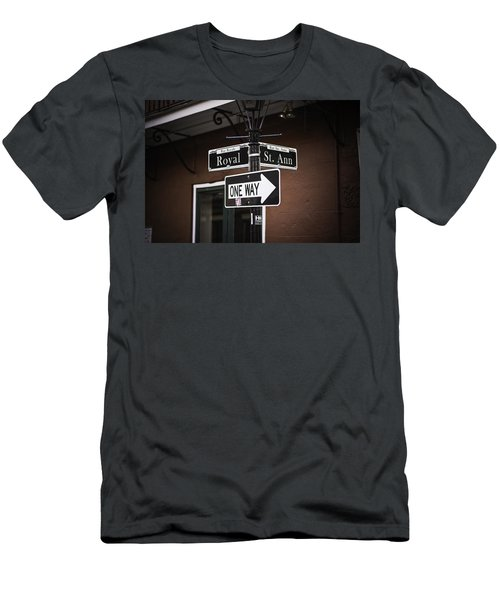 The Corner Of Royal And St. Ann, New Orleans, Louisiana Men's T-Shirt (Athletic Fit)