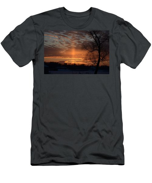 The Cross In The Sunset Men's T-Shirt (Athletic Fit)