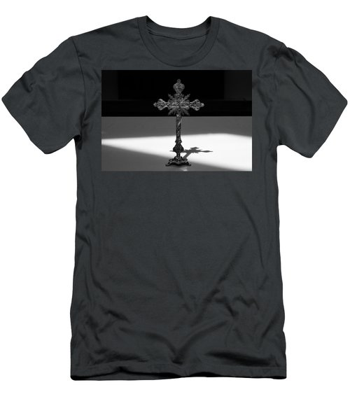 Men's T-Shirt (Athletic Fit) featuring the photograph The Cross's Shadow by Monte Stevens