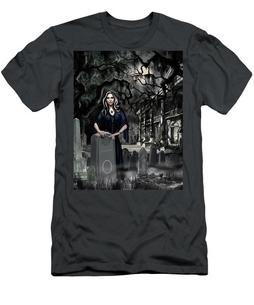 Men's T-Shirt (Slim Fit) featuring the painting The Curse Of Johnson Bayou by James Christopher Hill