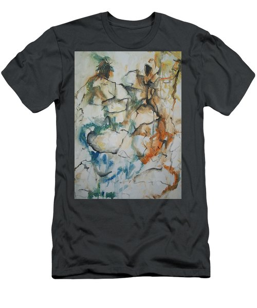 Men's T-Shirt (Slim Fit) featuring the painting The Dance by Raymond Doward