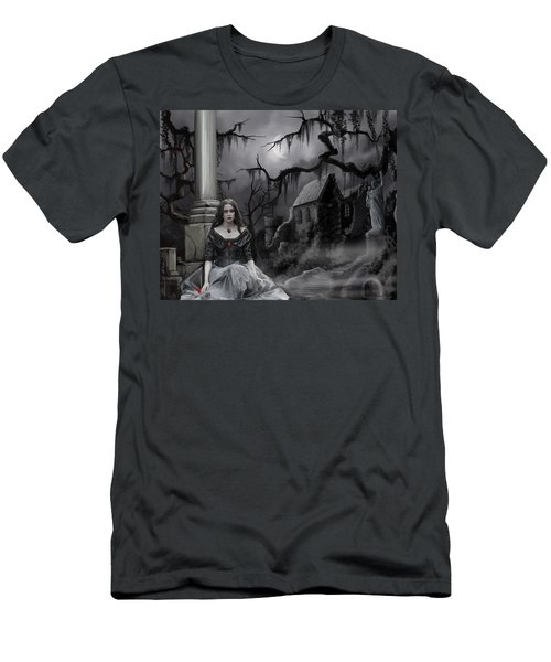 Men's T-Shirt (Slim Fit) featuring the painting The Dark Caster Awaits by James Christopher Hill