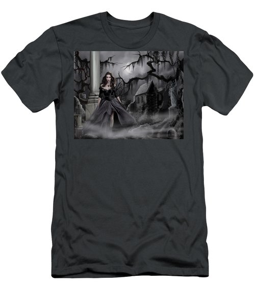 Men's T-Shirt (Slim Fit) featuring the painting The Dark Caster Comes by James Christopher Hill