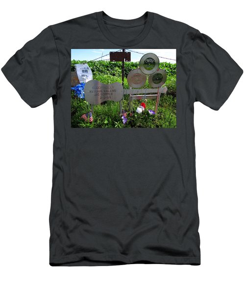 The Day The Music Died Men's T-Shirt (Slim Fit) by Keith Stokes