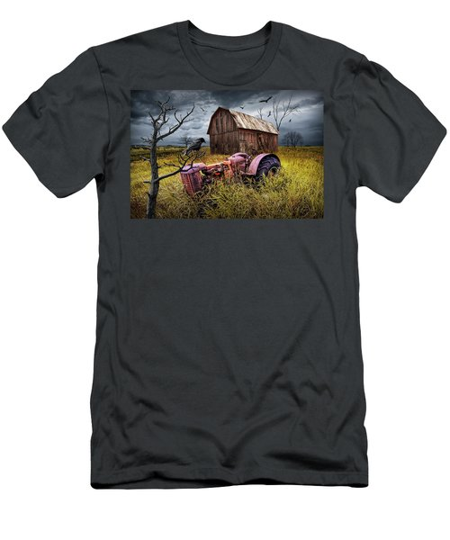 Men's T-Shirt (Slim Fit) featuring the photograph The Decline And Death Of The Small Farm by Randall Nyhof