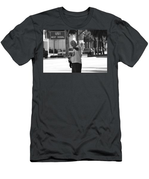 Men's T-Shirt (Slim Fit) featuring the photograph The Devil Man by Rob Hans