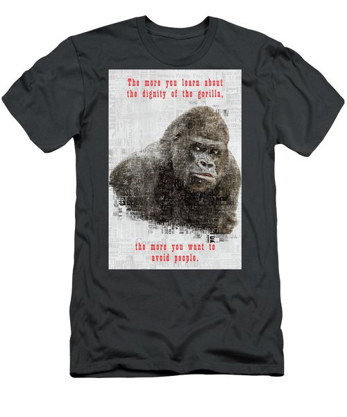 The Dignity Of A Gorilla Men's T-Shirt (Athletic Fit)