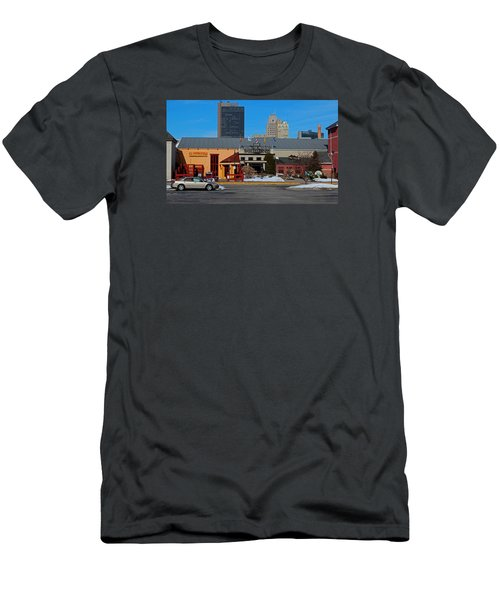 Men's T-Shirt (Slim Fit) featuring the photograph The Docks by Michiale Schneider