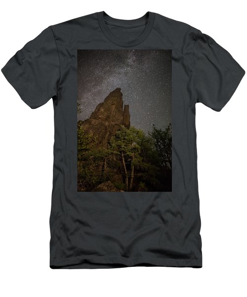 The Dorion Tower Light Painted Men's T-Shirt (Athletic Fit)