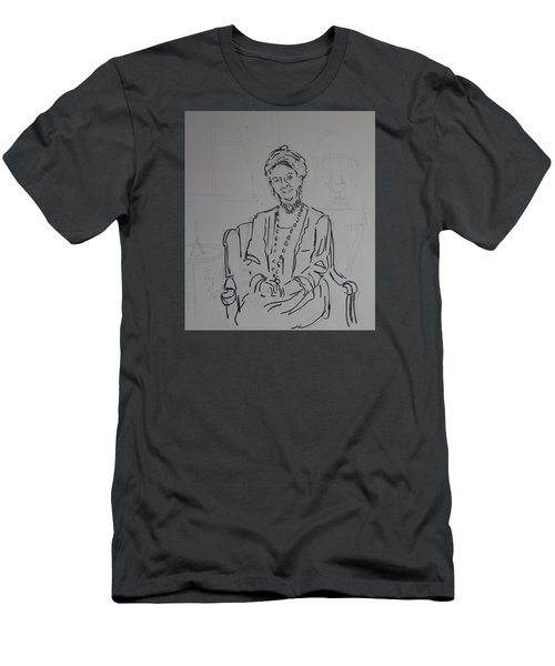 The Dowager Countess In Her Drawing Room At Dowton Abbey Men's T-Shirt (Athletic Fit)