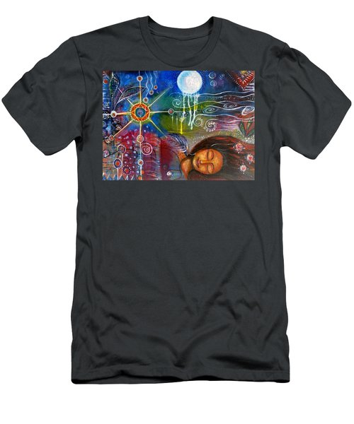 Men's T-Shirt (Slim Fit) featuring the painting The Dreamer by Prerna Poojara
