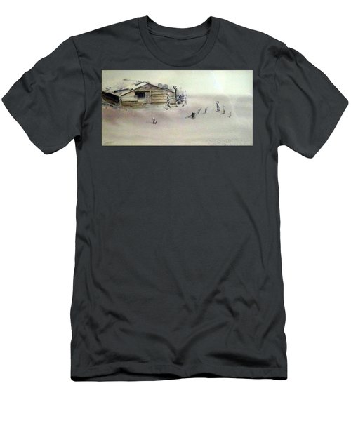 Men's T-Shirt (Slim Fit) featuring the painting The Dustbowl by Ed Heaton