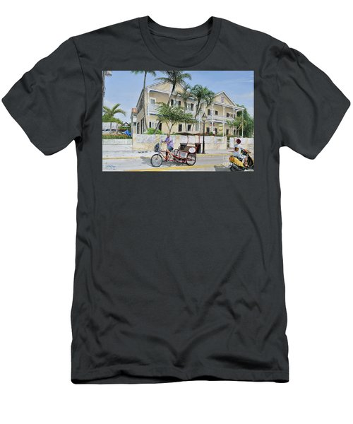 The Duval House, Key West, Florida Men's T-Shirt (Slim Fit) by Bob George