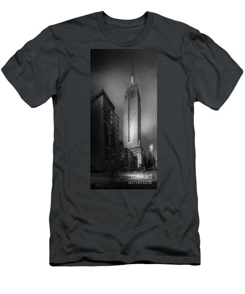 Men's T-Shirt (Slim Fit) featuring the photograph The Empire State Ch by Marvin Spates