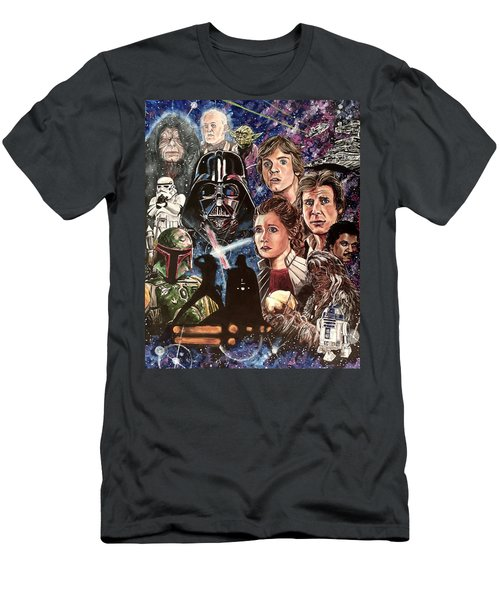 Men's T-Shirt (Athletic Fit) featuring the painting The Empire Strikes Back by Joel Tesch