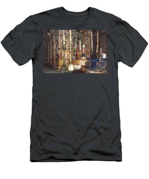 Men's T-Shirt (Athletic Fit) featuring the photograph The Empty Tomb Of Christ by Mae Wertz