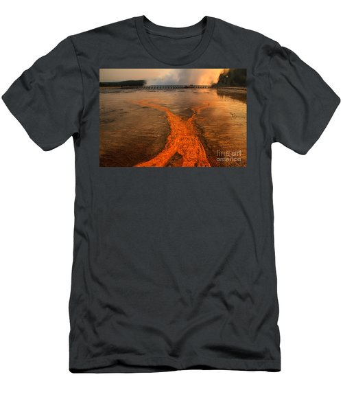 The Enchantment Of Grand Prismatic Spring Men's T-Shirt (Athletic Fit)