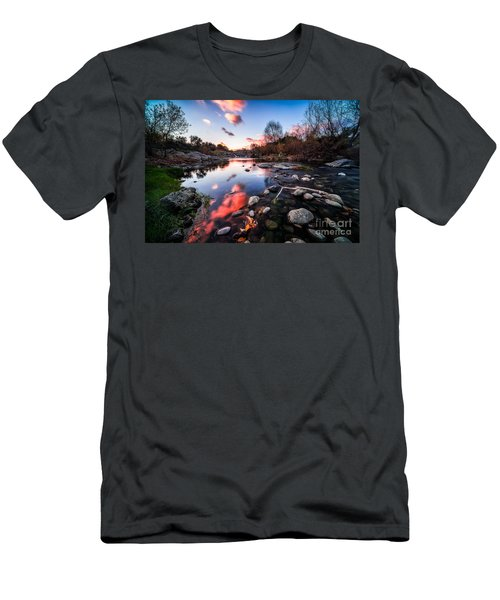 The End Of Autumn Men's T-Shirt (Slim Fit) by Giuseppe Torre