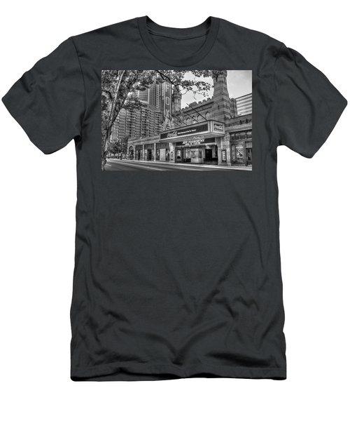 The Fabulous Fox Theatre Bw Atlanta Georgia Art Men's T-Shirt (Athletic Fit)