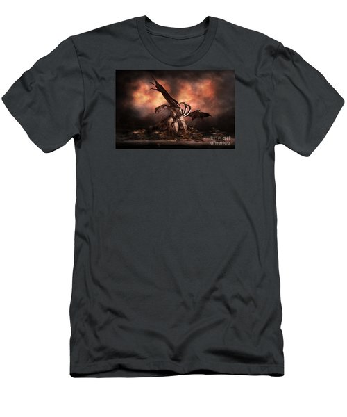 Men's T-Shirt (Slim Fit) featuring the digital art The Fallen by Shanina Conway