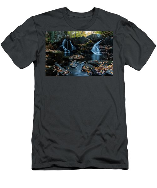 The Falls Of Black Creek In Autumn IIi Men's T-Shirt (Athletic Fit)