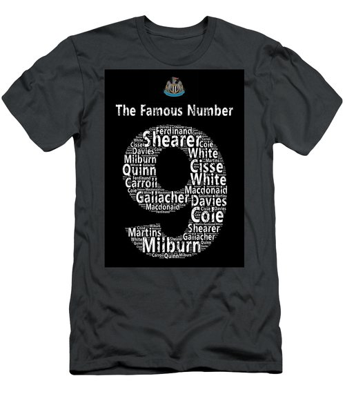 The Famous Number 9 - Newcastle United Wordart Men's T-Shirt (Athletic Fit)