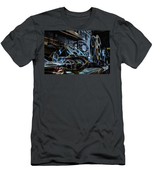 Men's T-Shirt (Athletic Fit) featuring the photograph The Film Room by Kristia Adams