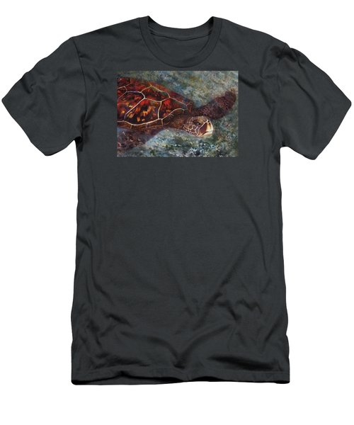 The First Honu Men's T-Shirt (Slim Fit) by Kerri Ligatich