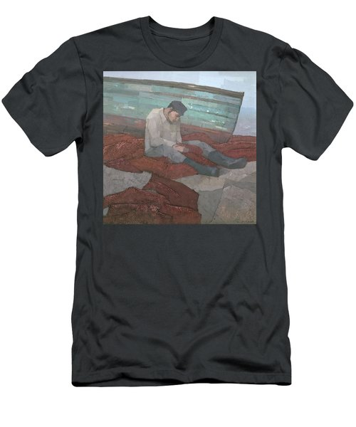 Men's T-Shirt (Athletic Fit) featuring the painting The Fisherman by Steve Mitchell
