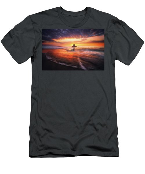 The Flaming Rock Men's T-Shirt (Athletic Fit)