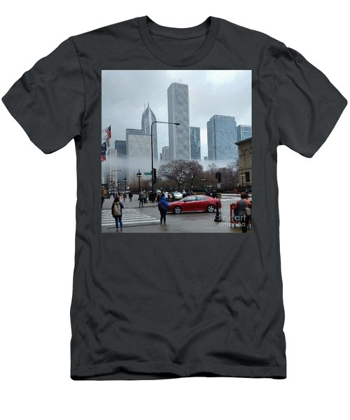 The Fog Lifts On Michigan Avenue Men's T-Shirt (Athletic Fit)
