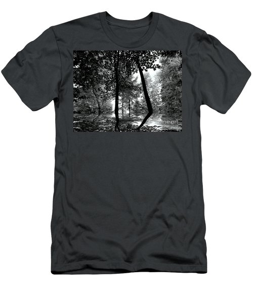 Men's T-Shirt (Slim Fit) featuring the photograph The Forest by Elfriede Fulda