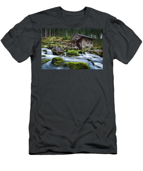 The Forgotten Mill Men's T-Shirt (Slim Fit) by JR Photography