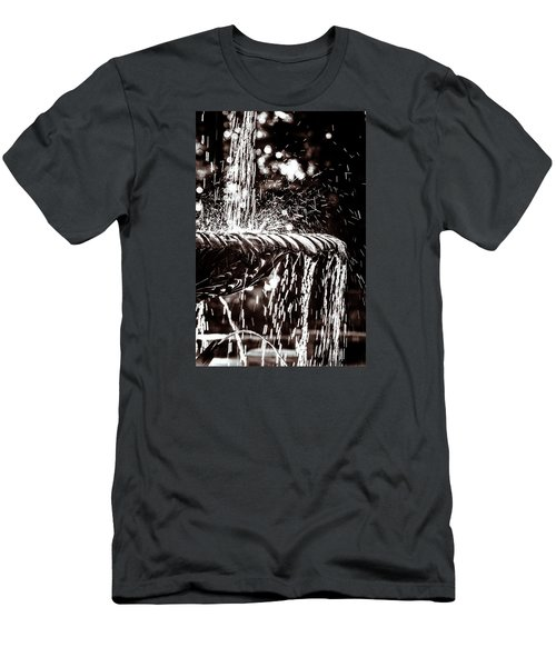 Men's T-Shirt (Slim Fit) featuring the photograph The Fountain by Wade Brooks