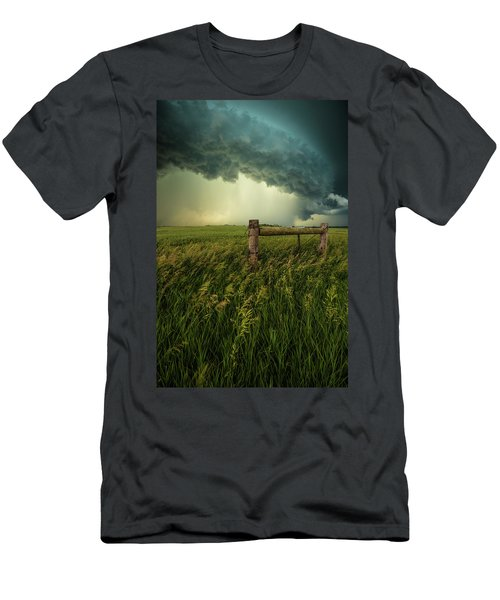 Men's T-Shirt (Athletic Fit) featuring the photograph The Frayed Ends Of Sanity  by Aaron J Groen