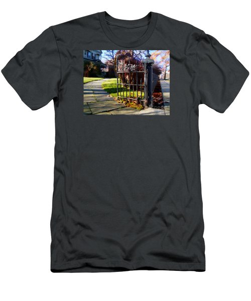 Men's T-Shirt (Slim Fit) featuring the photograph The Gate by Betsy Zimmerli