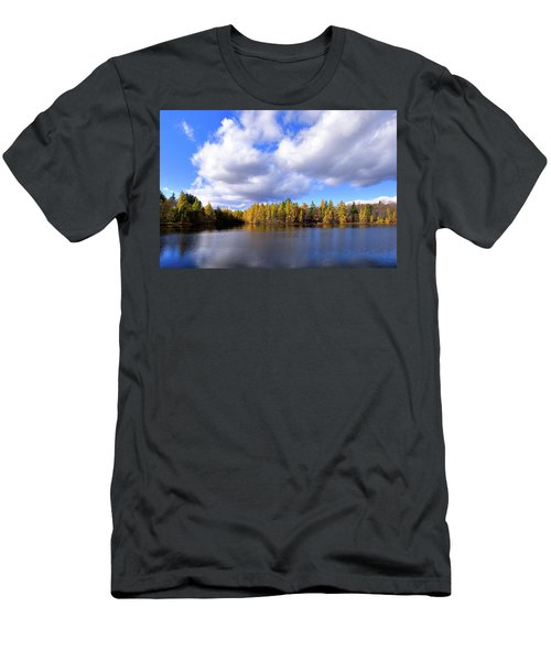 Men's T-Shirt (Slim Fit) featuring the photograph The Golden Forest At Woodcraft by David Patterson