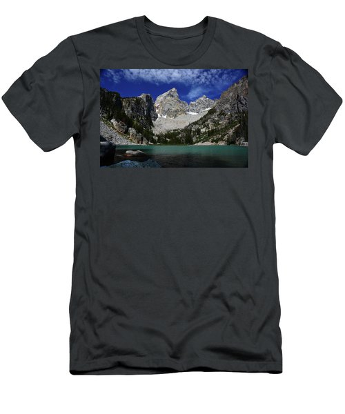 The Grand And Mount Owen From Delta Lake Men's T-Shirt (Slim Fit) by Raymond Salani III