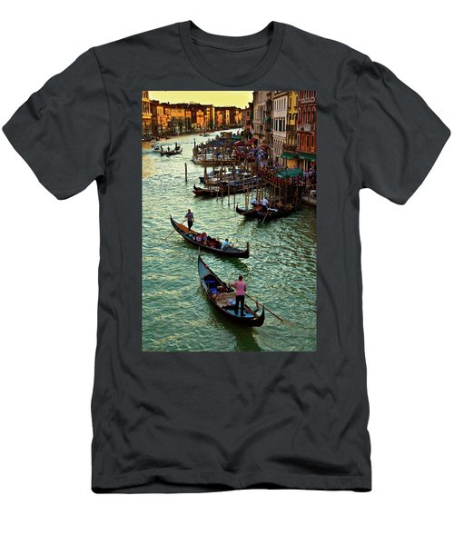 The Grand Canal Venice Men's T-Shirt (Slim Fit) by Harry Spitz