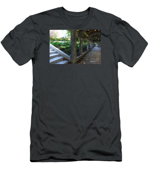 Men's T-Shirt (Slim Fit) featuring the digital art The Grape Arbor Path by David Blank