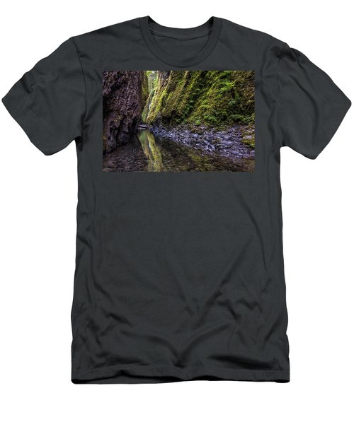 Men's T-Shirt (Athletic Fit) featuring the photograph The Green Canyon Of Oregon by Pierre Leclerc Photography
