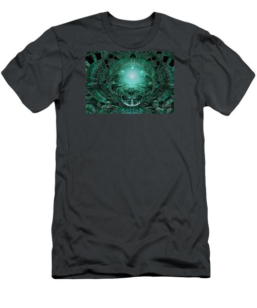 Men's T-Shirt (Slim Fit) featuring the digital art The Green Glow by Melissa Messick