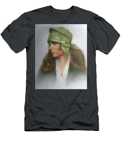 The Green Hat Men's T-Shirt (Slim Fit) by Janet McGrath