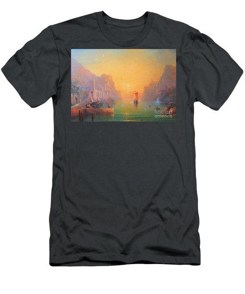 The Grey Havens. The Gulls Lament.  Oil On Canvas Men's T-Shirt (Slim Fit) by Joe  Gilronan